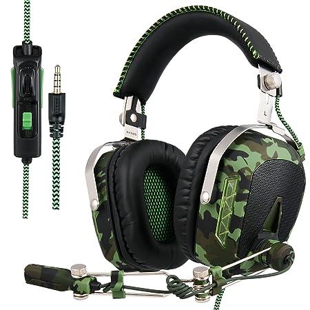 SADES Aktualisiert SA926T Kopfhörer PS4 Headset Stereo Xbox One Kopfhörer Gaming Headset Over-Ear-Kopfhörer mit Mikrofon für