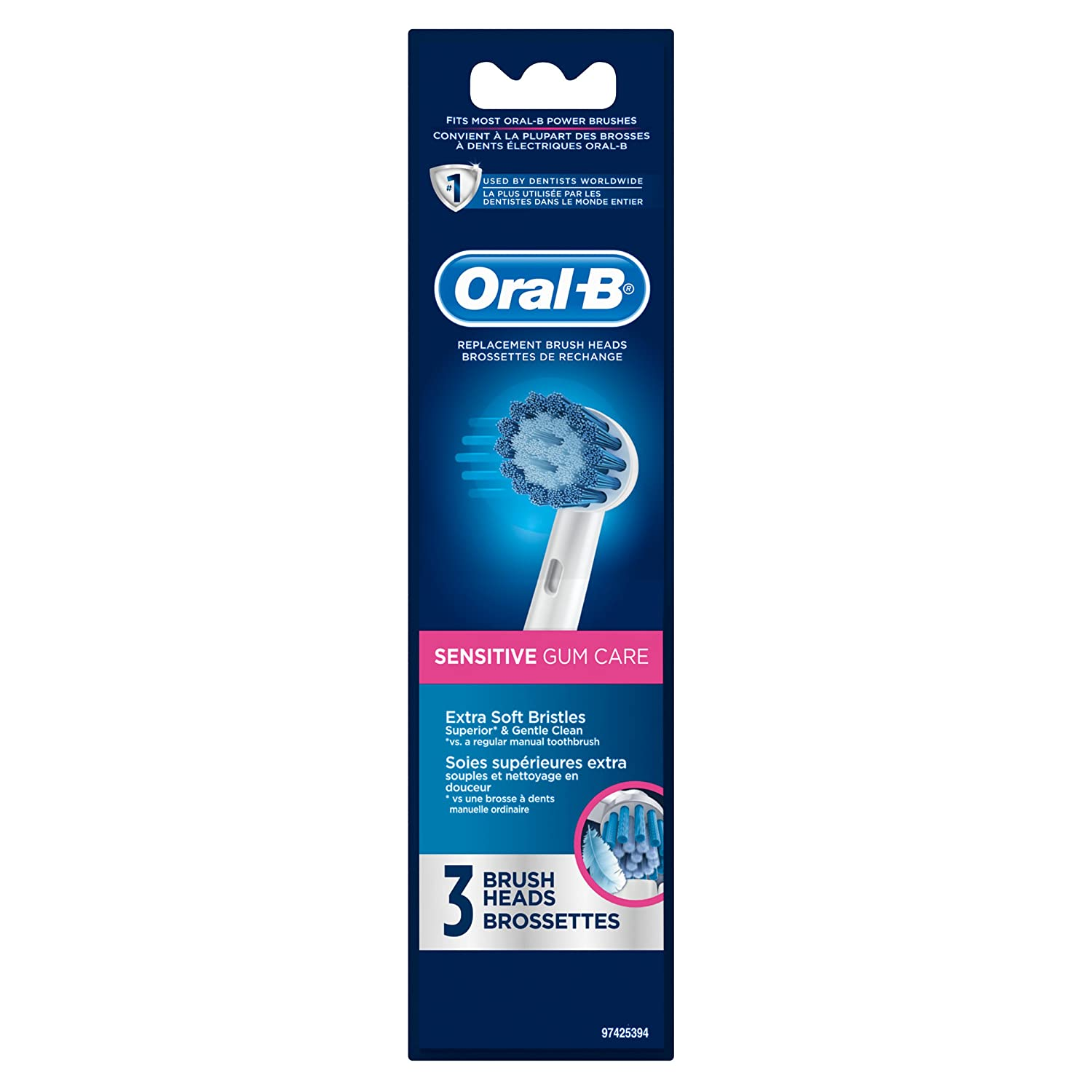Amazon.com: Oral B Sensitive Gum Care Electric Toothbrush Replacement Brush  Heads, 3 Count: Beauty