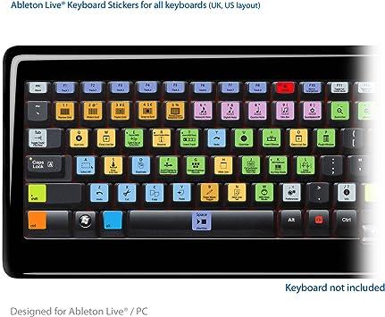 Ableton Live Pro Laptop clave Atajos de Teclado Pegatinas ...