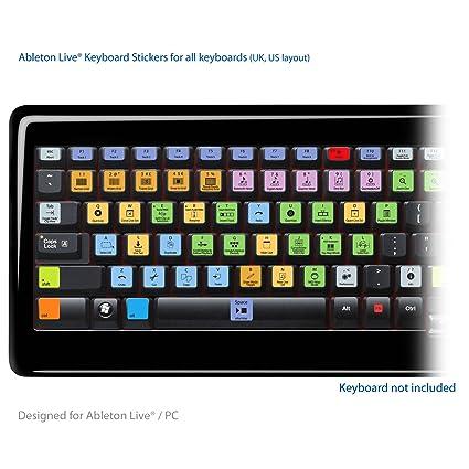 Ableton Live Pro Laptop clave Atajos de Teclado Pegatinas Etiquetas - Para PC / MAC