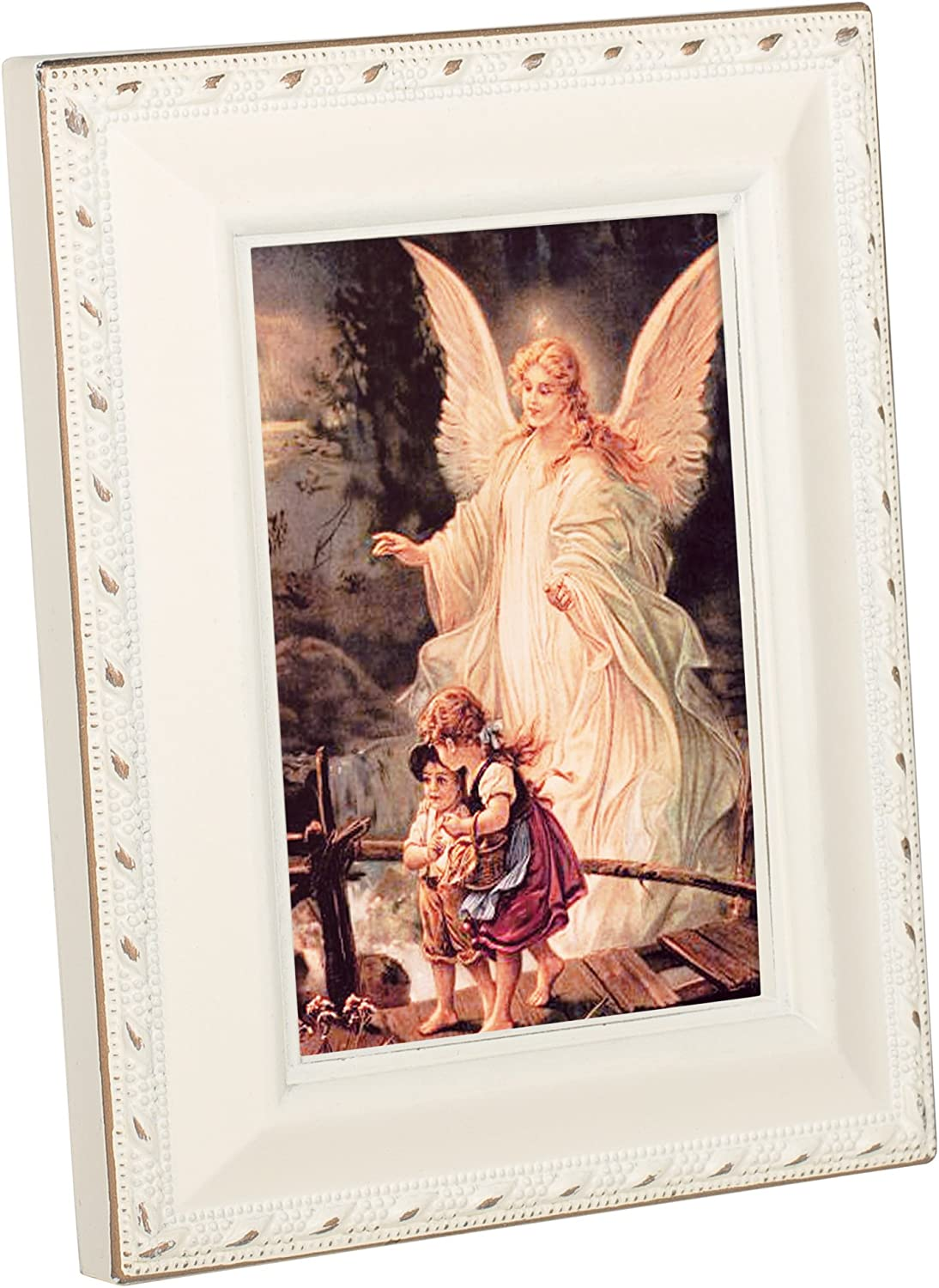 Cottage Garden Primera Communion Painting Ivory Rope Trim Tiny Frame with Magnet and Easel
