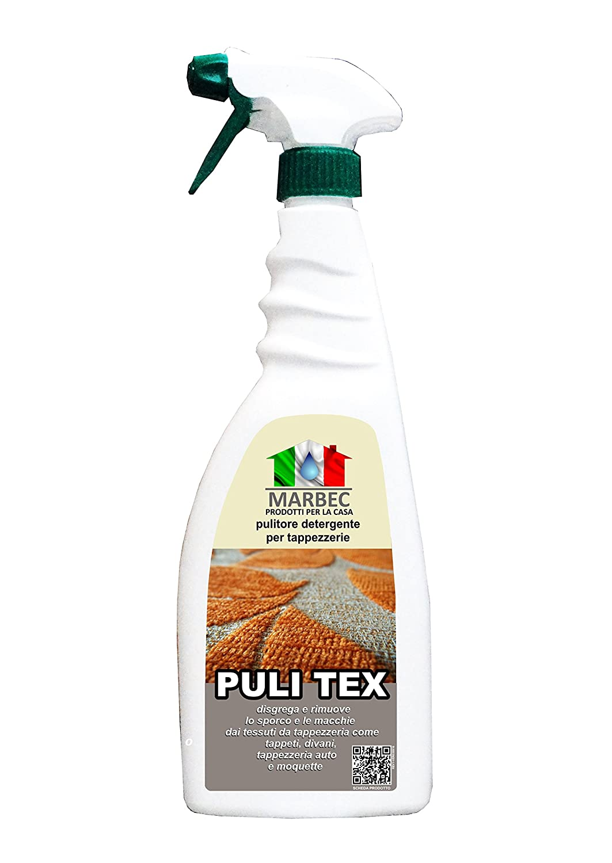 Marbec - PULI TEX 750ML | Pulitore detergente per tappezzerie, divani e moquette