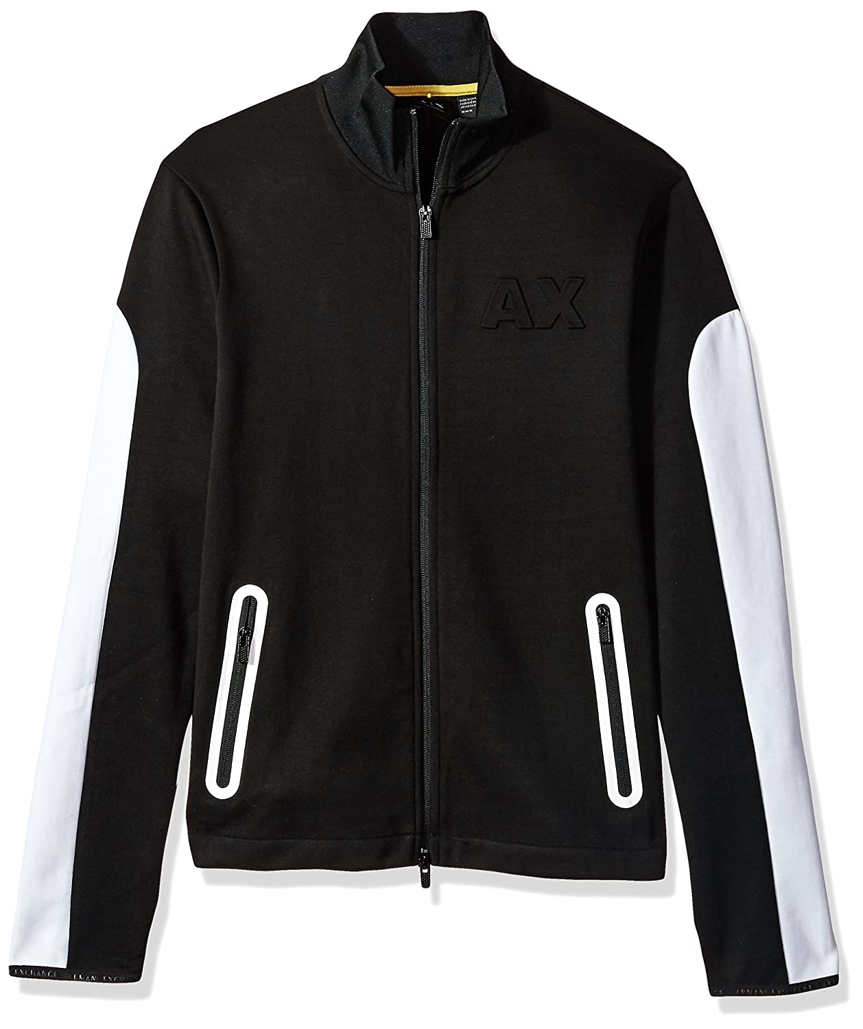 A|X Armani Exchange Men's Neoprene Full Zip Mock Neck 6YZM94ZJQ2Z