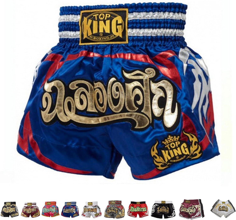 TKTBS-076 Boxing Thaibox Kickbox Short Hosen TOP KING Muay Thai Shorts wei/ß
