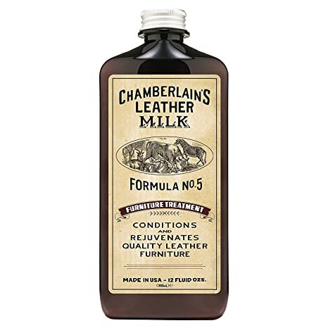 Chamberlains Leather Milk - Furniture Treatment No. 5 - Acondicionador y Limpiador Natural - para el Cuero del mobiliario - con Almohadilla de ...