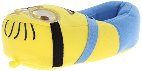 Despicable Me Minion Slipper (Little Kid/Big Kid), Yellow, 2/3 M US Big Kid