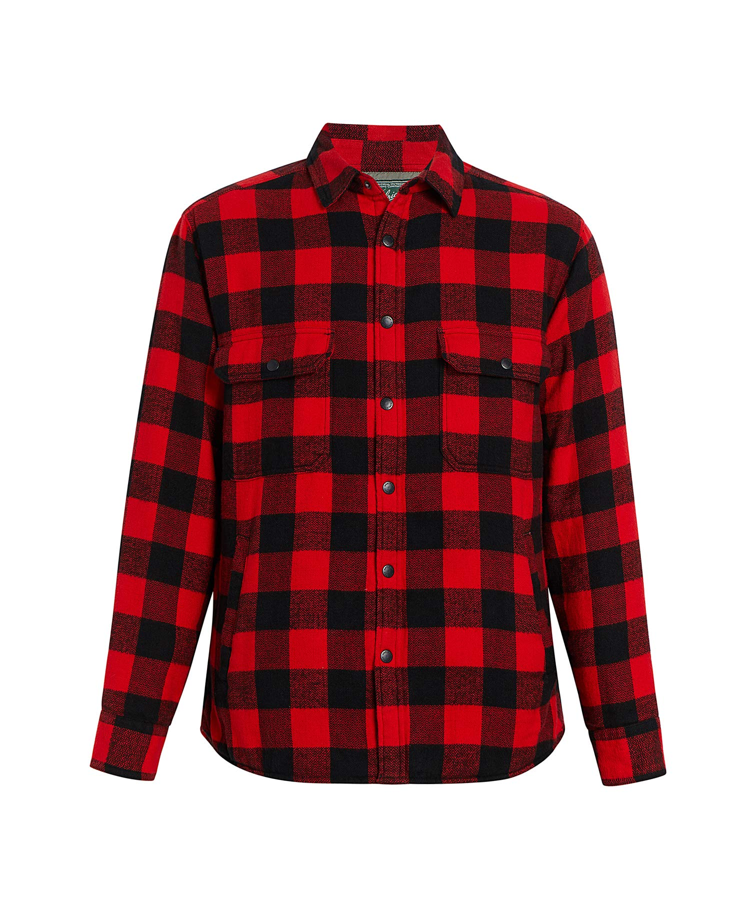Woolrich Men's Oxbow Bend Lined Shirt Jacket, Old Red Buffalo, X-Large