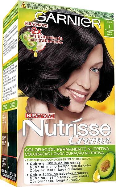 Garnier Nutrisse Coloración, Tono 10 Reglisse - 10 ml: Amazon ...
