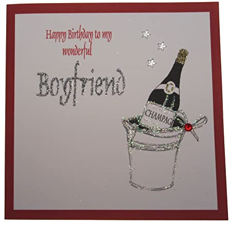 White Cotton Cards 1 Piece Happy Birthday To My Wonderful Boyfriend