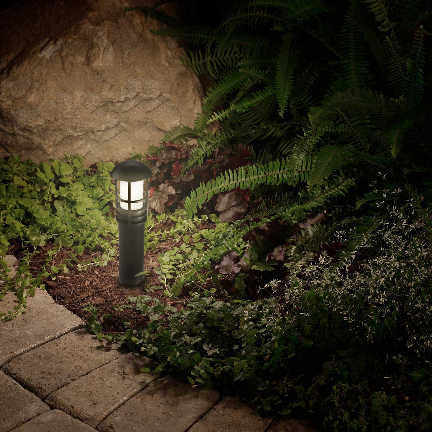 LEONLITE 3W LED Landscape Light, 18W Eqv, 12V Low Voltage, Waterproof, Aluminum Housing with Ground Stake, ETL Listed Outdoor Pathway Garden Yard Patio Lamp, 4000K Cool White, Pack of 12 by LEONLITE (Image #6)