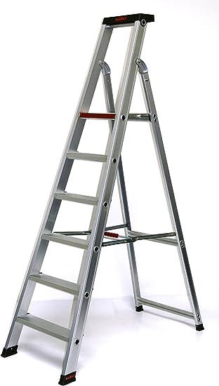 Escalera de aluminio profesional 6 niveles/peldaños, 2230 X 61 X 16 CM, aluminio, marca: Szagato (pie escalera, escalera, aluminio escalera, escalera combinada, palanca): Amazon.es: Bricolaje y herramientas