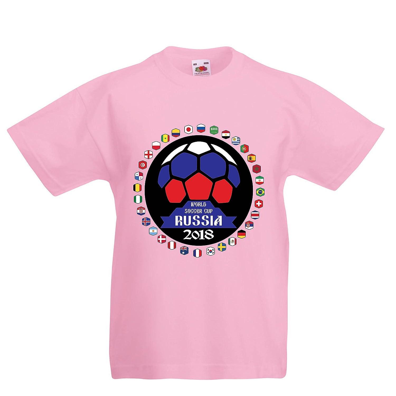 lepni.me Camiseta para Niño/Niña Las 32 Banderas del Equipo de ...