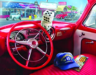 product image for American Car (Large Piece) 1000 pc Jigsaw Puzzle by SunsOut - Large Oversized Easy to Grasp Puzzle Pieces