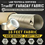 TitanRF Faraday Fabric Pro Construction Kit. Military Grade Certified Material Blocks RF Signals (WiFi, Cell, Bluetooth…