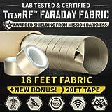 TitanRF Faraday Fabric - Pro Construction Kit - Military Grade Fabric Blocks RF Signals (WiFi, Cell, Bluetooth, etc…
