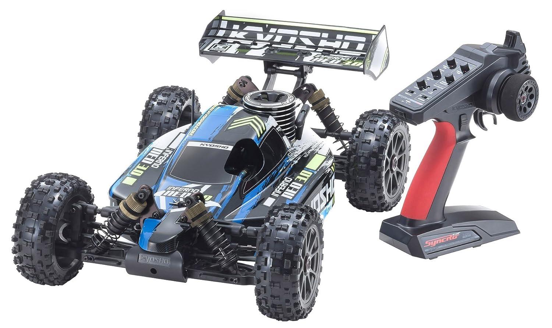 京商 1/8スケール ラジオコントロール GP 4WDレーシングバギー レディセット インファーノ NEO 3.0 カラータイプ1 ブルー KT-231P+付き 33012T1 B07CR1QMKY