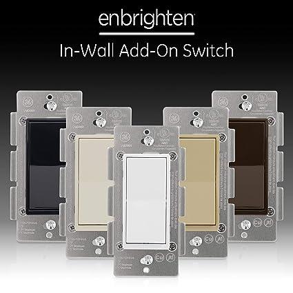GE, White & Light Almond, Enbrighten Add Z-Wave Zigbee Smart Lighting on