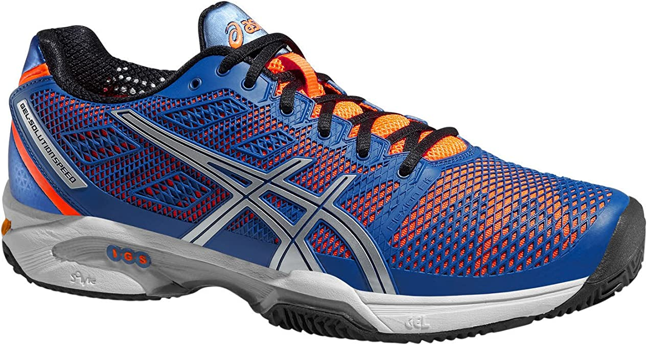 Sano monitor viernes  ASICS - Gel-Solution Speed 2 Clay Men's Tennis Shoes (Blue/Orange) - EU 42  - US 8,5: Amazon.co.uk: Shoes & Bags