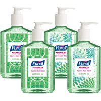 PURELL Advanced Hand Sanitizer Soothing Gel, Fresh scent, with Aloe and Vitamin E , 8 fl oz Pump Bottle (Pack of 4) - 9674-06-ECDECO