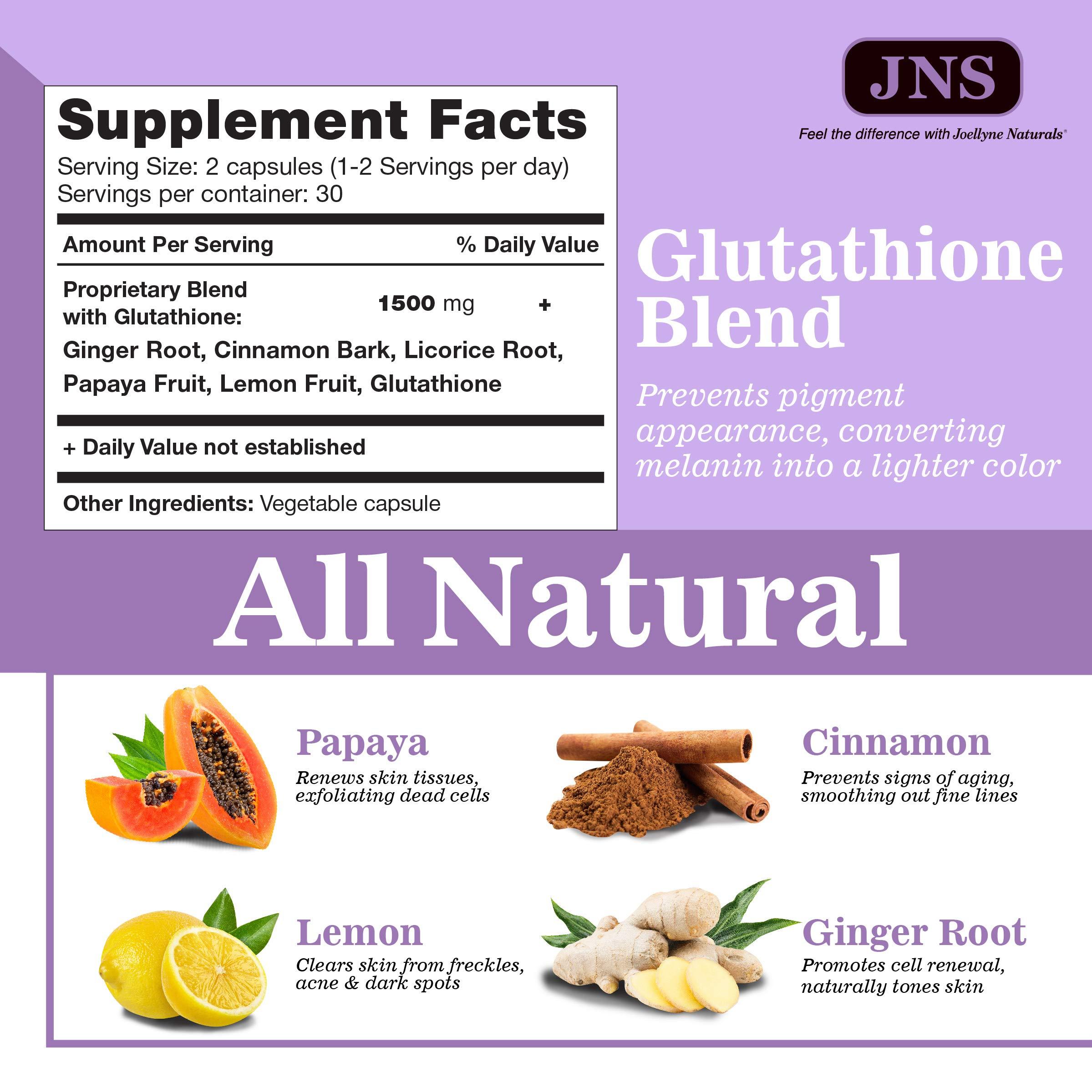Glutathione Lightening Pills - 3000mg Glutathione Lightening Pills - Acne Scar & Dark Spot Remover - Natural Skin Lightener - Anti-Aging & Antioxidant Formula - 60 Capsules