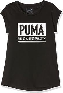 Puma Dangerous Maglietta da Bambina, Taglia: 8 Anni (Taglia di Fabbrica 128) 838585 01