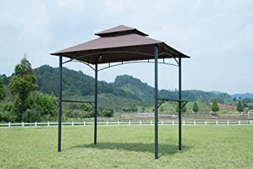 GOJOOASIS Barbecue Canopy Tent Outdoor 2-Tier BBQ Grill Gazebo Tent Coffee Shelter 8- & Amazon.com : GOJOOASIS Barbecue Canopy Tent Outdoor 2-Tier BBQ ...