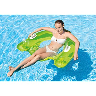 """Intex Sit N Float Inflatable Lounge, 60"""" X 39"""" (Colors May Vary)(2 Pack): Toys & Games"""
