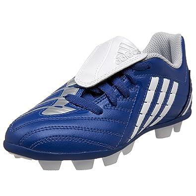 c14ac828e adidas Toddler/Little Kid Predito PS HG Soccer Shoe,Blue/White/Silver