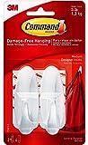 Command Medium Designer Hooks-White 2 Hooks & 4 Strips