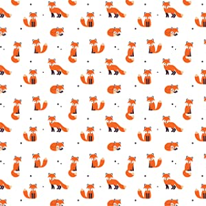 Fox Woodland Animal Gift Wrapping Paper - Folded Flat 30 x 20 Inch (3 Sheets)