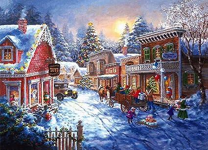 bc7ce51306 Better Selection Christmas Cart Full Drill Diamond Painting Kits 5D DIY  Arts   Bling Artwork Decor