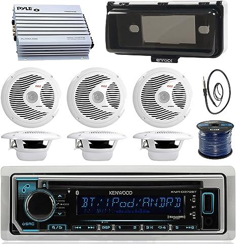 800W Amp New Marine AM//FM USB Bluetooth iPhone Control Radio Player 6 Speakers