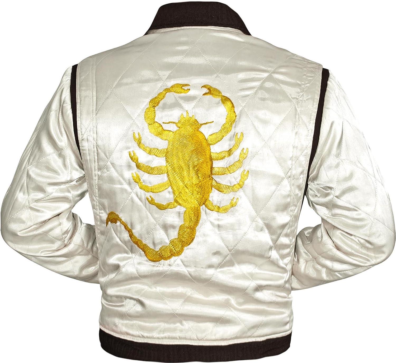 Drive Movie Ryan Gosling Scorpion Stylish Satin Jacket For Men/'s