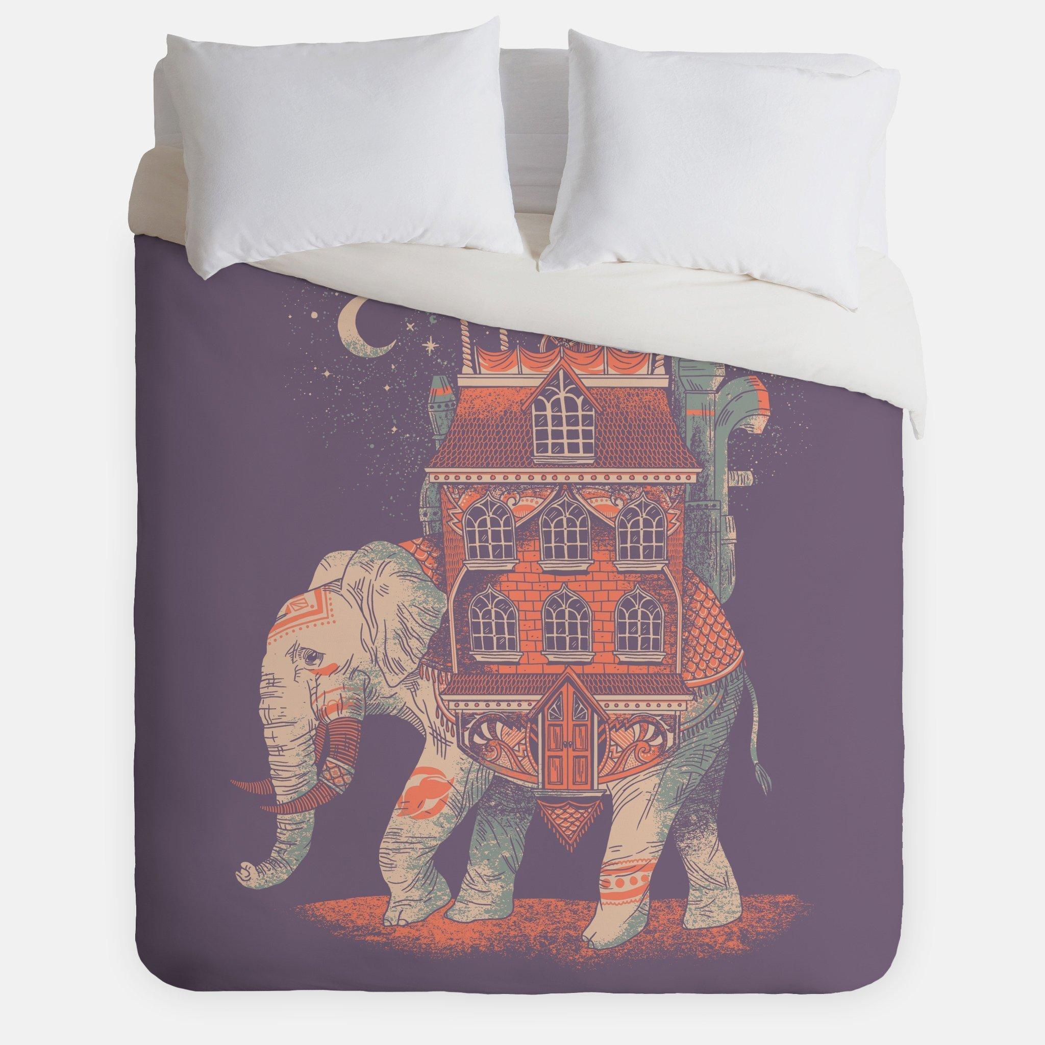 Africa Elephant Duvet Cover / Animal Traveler Bedroom Decor / Made in USA / Great Bedroom Artwork