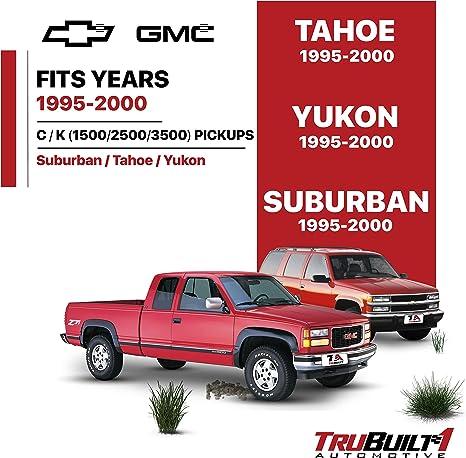 99-06 Silverado 95-00 GMC C//K Yukon 99-06 GMC Sierra Inner Door Handle #15708043 IRONTEK Interior Door Handle for Front//Rear Left Driver/'s Side Fits Chevrolet 95-00 C//K Tahoe