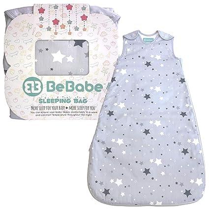 Saco de dormir para bebés tog 2,5 Be Babe | 0-6 meses | Saco de dormir para recién nacidos, niños o niñas | Doble cremallera | Alternativa a ...