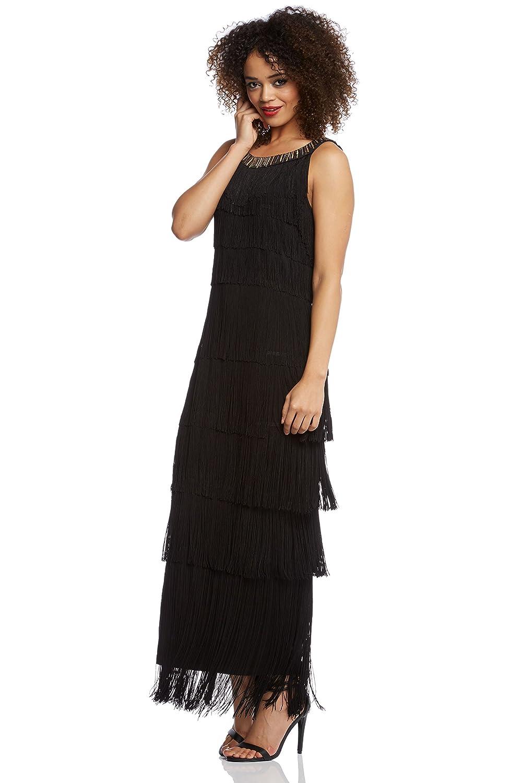 Roman Originals Womens Flapper Maxi Dress Black UK Size 10-20 - 20: Amazon.co.uk: Clothing