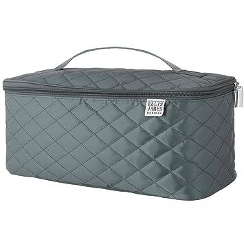 68dc7f82ba46 Ellis James Designs Large Travel Makeup Bag Organizer - Cosmetic Train Case  Toiletry Bags for...
