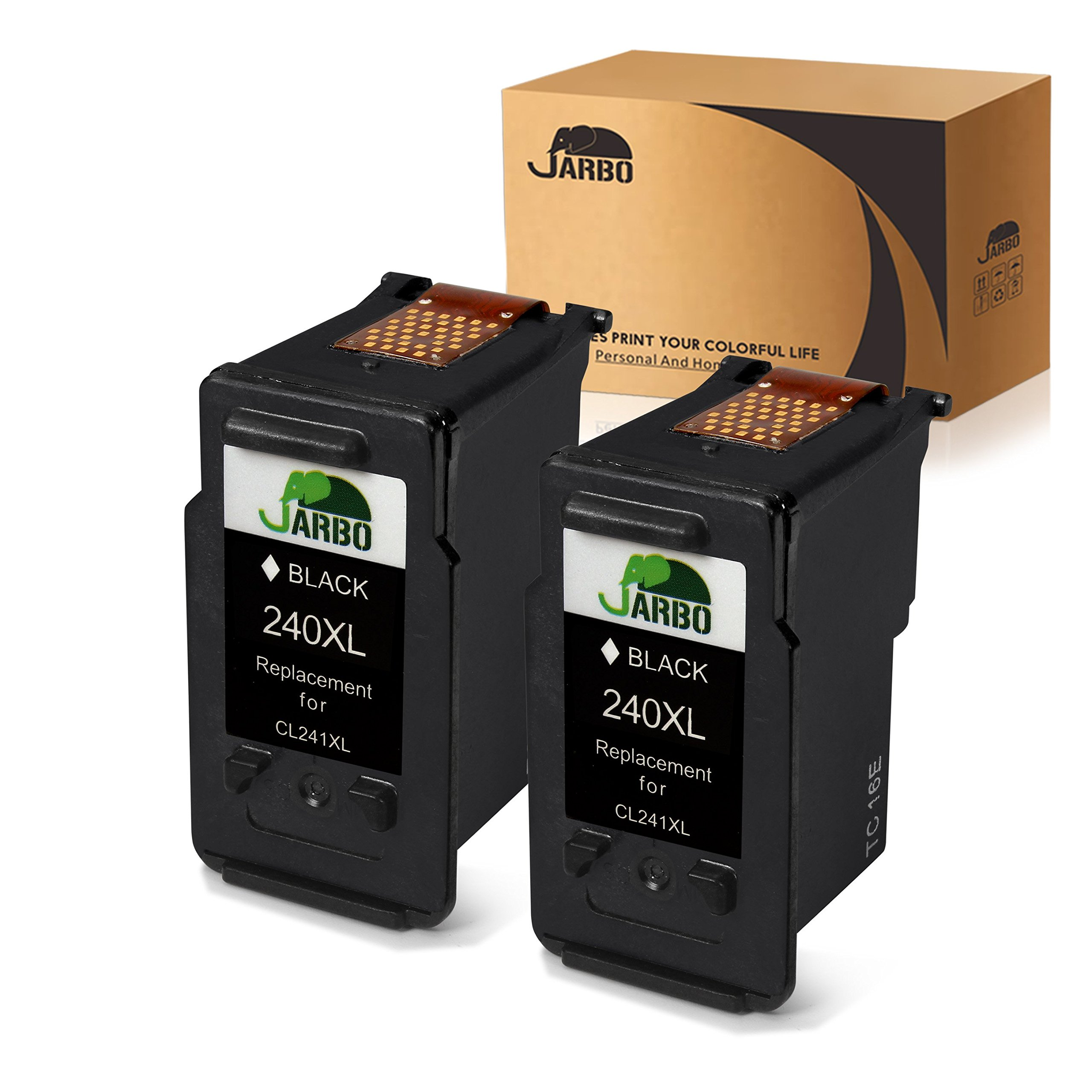 JARBO Remanufactured for Canon PG-240XL Ink Cartridge High Yield, 2 Black, Compatible for Canon PIXMA MG3520 MG3620 MG2220 MG3220 MG3522 MG3222 MG2120 MG4120 MX472 MX452 MX522 MX532 MX392 MX432 MX512