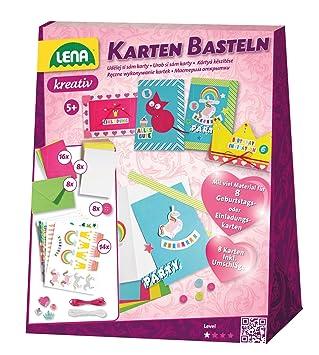 Lena 42148 Bastelset Karten Basteln Komplettset Für 8 Grußkarten