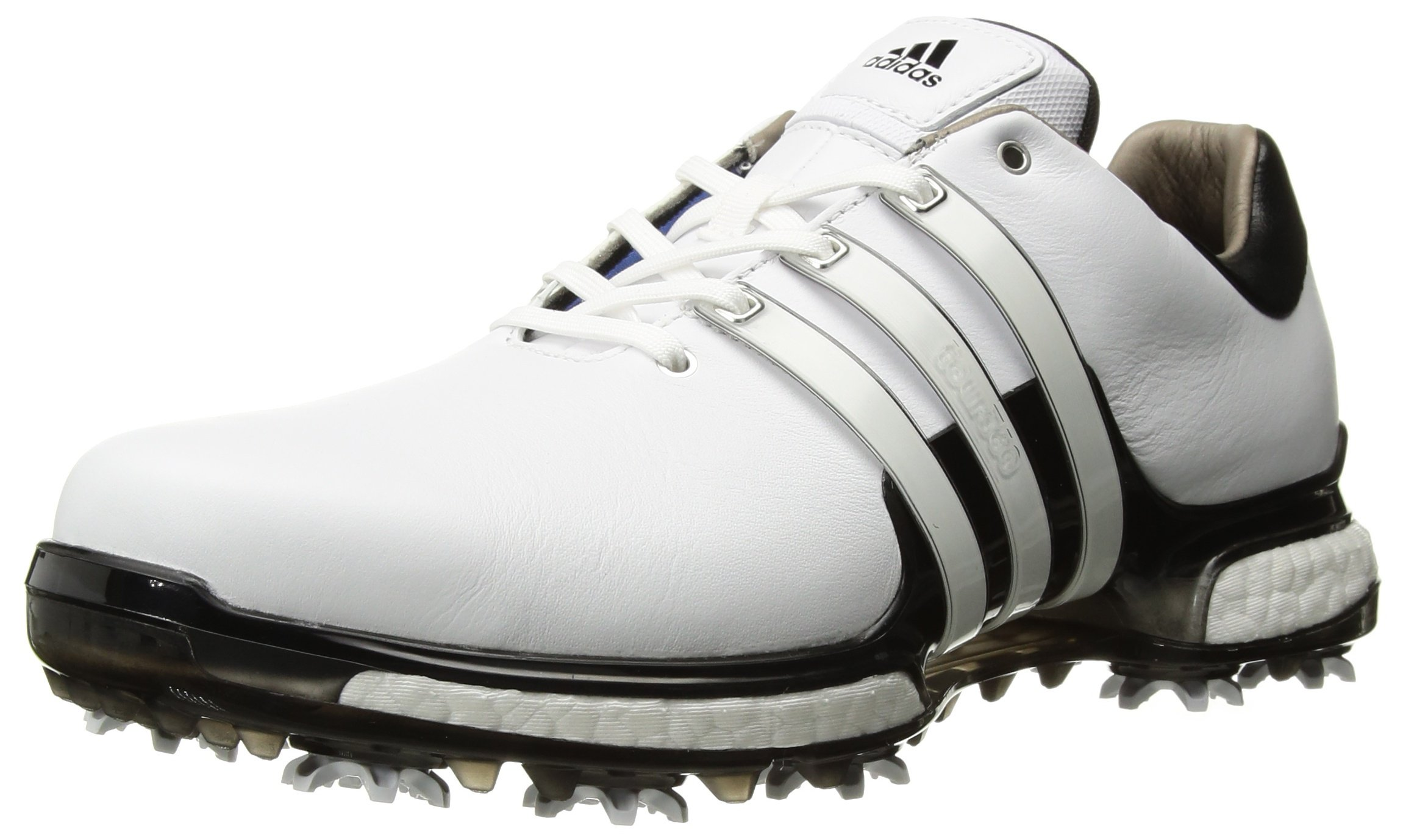 adidas Men's TOUR 360 2.0 Golf Shoe, White/Black, 7 M US