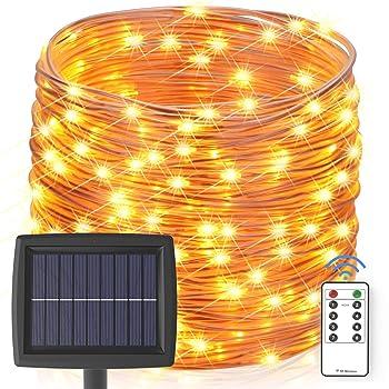 Asmader 60 FT 200 LEDs Solar String Lights