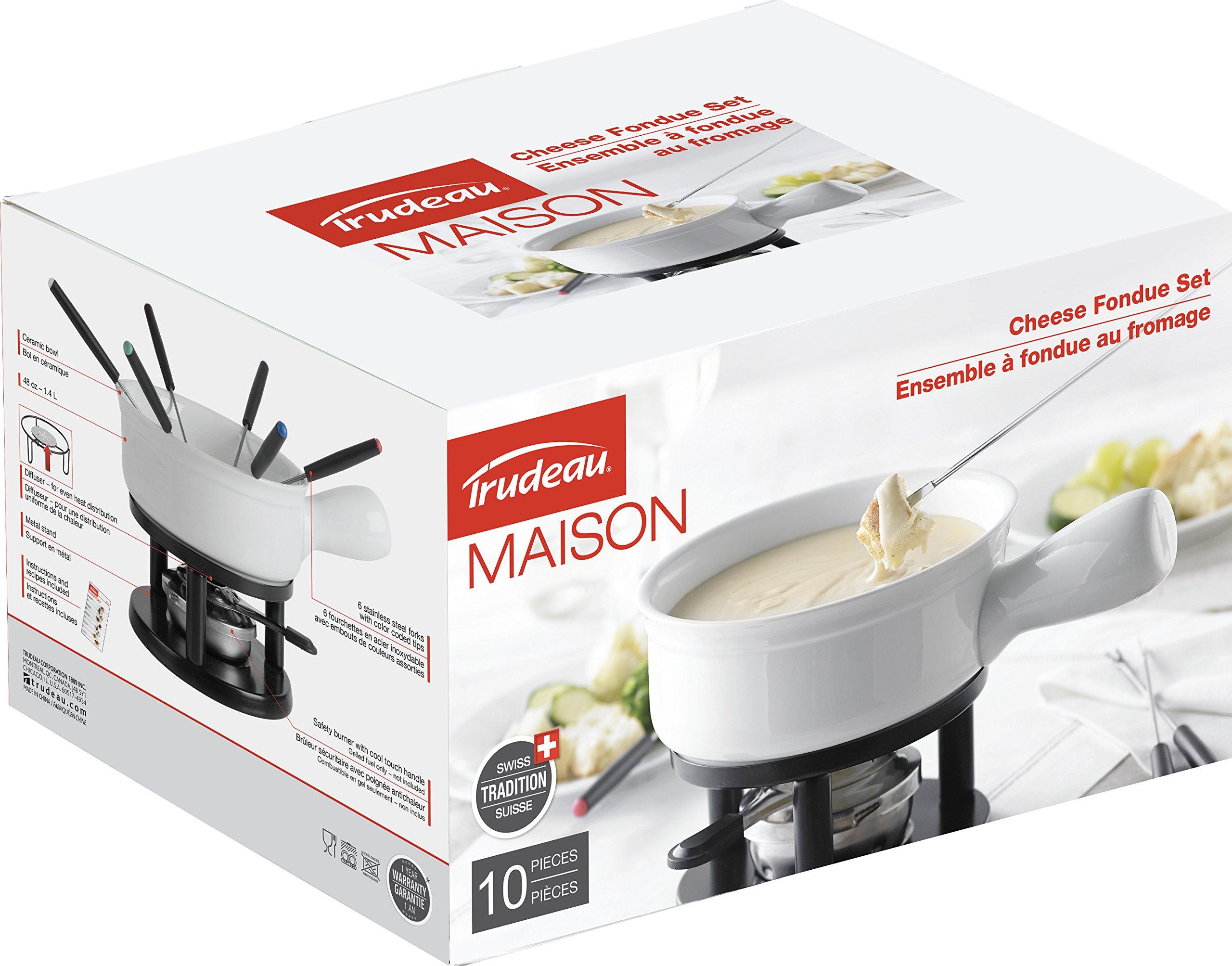 Trudeau Maison Classico 10 piece Cheese Fondue Set - 48 ounce