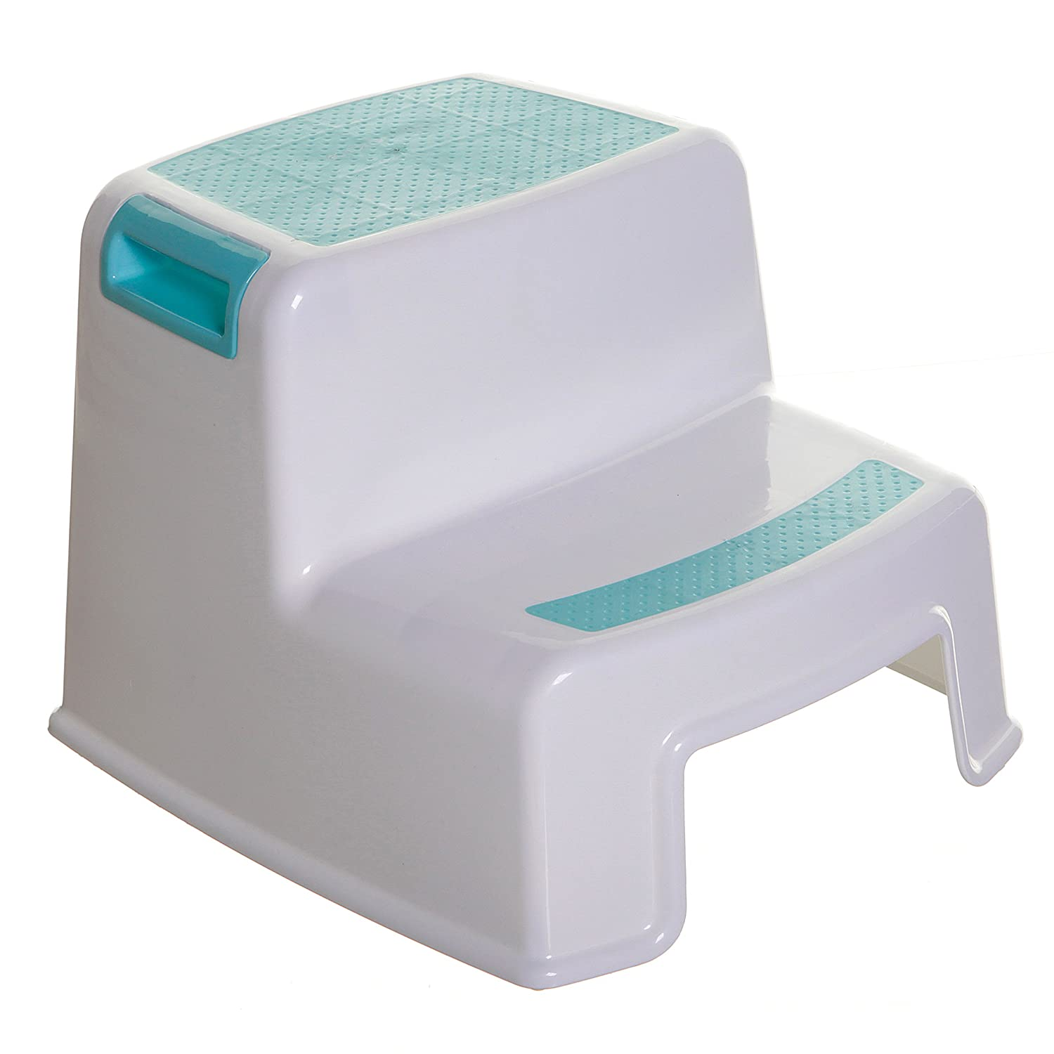 Dreambaby Two-Up Height Step Stool, White/Aqua F685