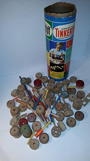 Amazon Com Lot Of Vintage Tinker Toys The Original Tinker Toy 146