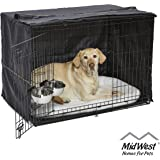 MidWest iCrate Starter Kit | The Perfect Kit for Your New Dog Includes a Dog Crate, Dog Crate Cover, 2 Dog Bowls & Pet…