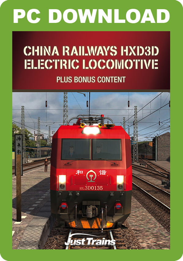 Railway Stock - China Railways HXD3D Electric Locomotive + ChengYu Part 2 Route and Rolling Stock Pack [Download]