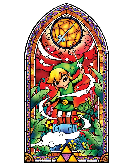 best service 4148a 9596d Amazon.com  BLIK Zelda Wind Waker Silver Stained Glass Removable Wall Decal    Officially Licensed Nintendo Art   Easy Peel and Stick Design   22.5 x  42.5 ...