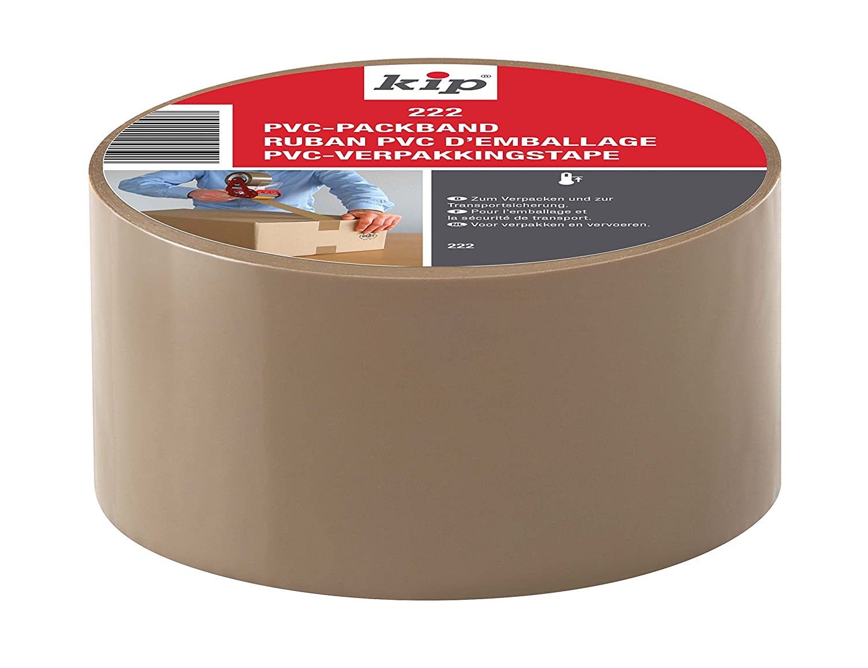 50 mm x 66 m Kip 222-00 PVC-Packband Verpacken und Verkleben schweren Kartonagen