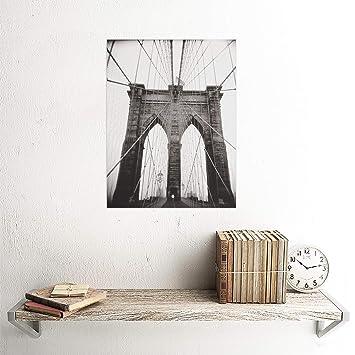 PHOTOGRAPH BLACK WHITE RAY HENDERS BROOKLYN BRIDGE ART PRINT POSTER CC1463